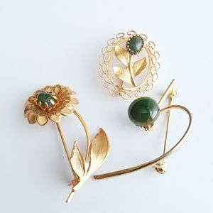 Vintage Scatter Pin Trio / Vintage Brooches